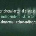 Does Symptomatic Peripheral Arterial Disease Predict An Abnormal Echocardiogram?