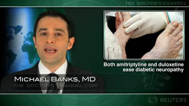 Both amitriptyline and duloxetine ease diabetic neuropathy