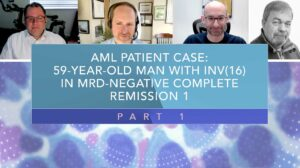 Click to View AML Patient Case: 59-Year-Old Man With INV(16) In MRD‑Negative CR1